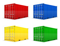 Illustrazione di vettore del contenitore di carico Fotografia Stock Libera da Diritti