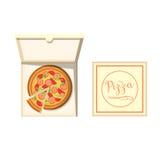 Illustrazione di vettore del contenitore di pizza Fotografie Stock