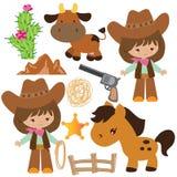 Illustrazione di vettore del cowgirl royalty illustrazione gratis