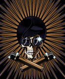 Illustrazione di vettore del cranio del pop star Immagine Stock Libera da Diritti