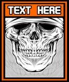 Illustrazione di vettore del vettore del cranio illustrazione di stock