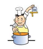 Illustrazione di vettore del cuoco immagine stock libera da diritti