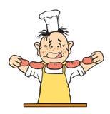 Illustrazione di vettore del cuoco Immagini Stock Libere da Diritti