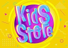 Illustrazione di vettore del deposito dei bambini nello stile del fumetto illustrazione di stock