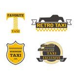 Illustrazione di vettore del distintivo del taxi Fotografie Stock