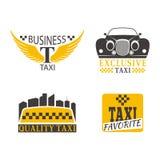 Illustrazione di vettore del distintivo del taxi Fotografia Stock