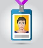 Illustrazione di vettore del distintivo di nome di evento Immagini Stock