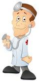 Medico - personaggio dei cartoni animati - illustrazione di vettore Immagini Stock Libere da Diritti