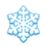 Illustrazione di vettore del fiocco di neve di three-demention Fotografia Stock
