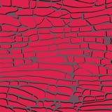 Illustrazione di vettore del fondo dei mattoni rossi Immagine Stock