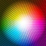 Illustrazione di vettore del fondo dell'arcobaleno dell'estratto del raggio del cerchio Fotografia Stock Libera da Diritti