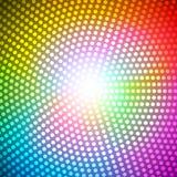 Illustrazione di vettore del fondo dell'arcobaleno dell'estratto del raggio del cerchio Fotografie Stock Libere da Diritti
