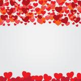 Illustrazione di vettore del fondo della carta dei biglietti di S. Valentino Fotografie Stock Libere da Diritti