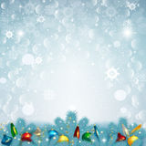 Illustrazione di vettore del fondo della neve di Natale Fotografie Stock
