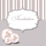 Illustrazione di vettore del fondo della perla di bellezza Immagini Stock