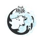 Illustrazione di vettore del fondo fresco del latte della latteria illustrazione di stock