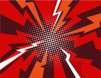Illustrazione di vettore del fondo del raggio di esplosione del libro di fumetti Fotografia Stock Libera da Diritti