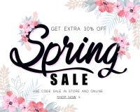 Illustrazione di vettore del fondo di vendita della primavera illustrazione di stock