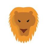 Illustrazione di vettore del fronte del leone Immagini Stock