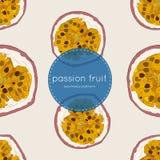 Illustrazione di vettore del frutto della passione, modello senza cuciture di tiraggio della mano illustrazione vettoriale