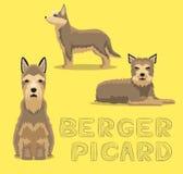 Illustrazione di vettore del fumetto di Berger Picard del cane Fotografia Stock Libera da Diritti