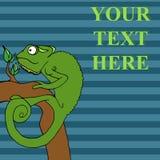 Illustrazione di vettore del fumetto del camaleonte Immagini Stock Libere da Diritti