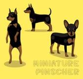 Illustrazione di vettore del fumetto del pinscher miniatura del cane Fotografie Stock Libere da Diritti