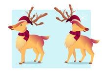 Illustrazione di vettore del fumetto della renna Fotografia Stock Libera da Diritti