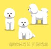 Illustrazione di vettore del fumetto di Bichon Frise del cane Fotografia Stock