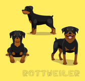 Illustrazione di vettore del fumetto di Rottweiler del cane illustrazione di stock
