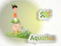 Illustrazione di vettore del fumetto del segno dello zodiaco Immagine Stock