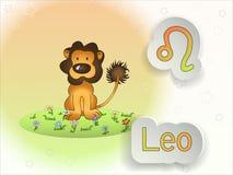 Illustrazione di vettore del fumetto del segno dello zodiaco Immagini Stock Libere da Diritti