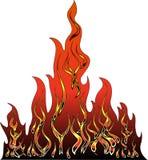 Illustrazione di vettore del fuoco Fotografia Stock Libera da Diritti