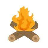 Illustrazione di vettore del fuoco di accampamento Fotografie Stock Libere da Diritti