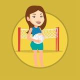 Illustrazione di vettore del giocatore di beach volley Immagine Stock