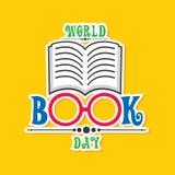 Illustrazione di vettore del giorno del libro del mondo illustrazione di stock