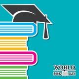 Illustrazione di vettore del giorno del libro del mondo illustrazione vettoriale