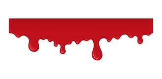 Illustrazione di vettore del gocciolamento del sangue Fotografia Stock Libera da Diritti
