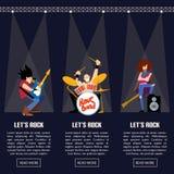 Illustrazione di vettore del gruppo di musica di banda rock illustrazione di stock