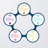 Illustrazione di vettore del infographics dei cerchi Fotografia Stock Libera da Diritti