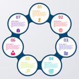 Illustrazione di vettore del infographics dei cerchi illustrazione di stock