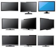 Illustrazione di vettore del LED e di LCD TV, ENV 10 Immagini Stock
