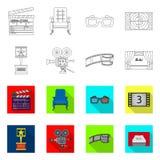 Illustrazione di vettore del logo di contaminazione e della televisione Insieme della televisione e dell'illustrazione di riserva illustrazione vettoriale