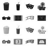 Illustrazione di vettore del logo di contaminazione e della televisione Raccolta della televisione ed icona d'esame di vettore pe illustrazione vettoriale