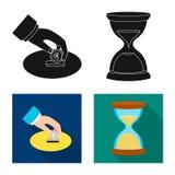 Illustrazione di vettore del logo dei soldi e della banca Insieme del simbolo di riserva della fattura e della banca per il web royalty illustrazione gratis