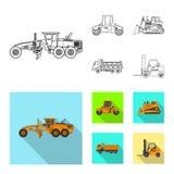 Illustrazione di vettore del logo della costruzione e di configurazione Insieme di configurazione ed icona di vettore del macchin royalty illustrazione gratis