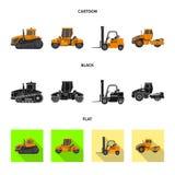 Illustrazione di vettore del logo della costruzione e di configurazione Raccolta di configurazione ed icona di vettore del macchi illustrazione vettoriale