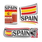 Illustrazione di vettore del logo per la Spagna Immagini Stock Libere da Diritti