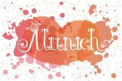 Illustrazione di vettore del logotype di Monaco di Baviera Immagine Stock Libera da Diritti