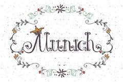 Illustrazione di vettore del logotype di Monaco di Baviera Fotografia Stock